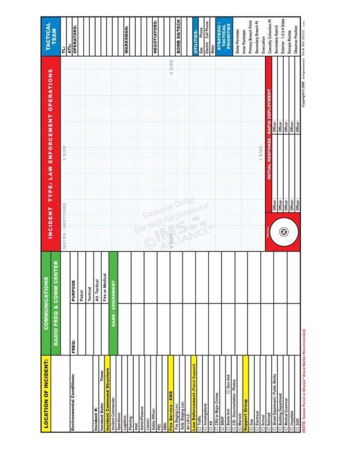 Law Incident Command Board Back