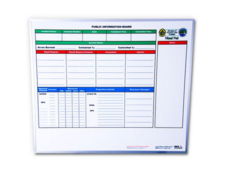 Magnetic Steel incident command board