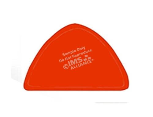 Blank Reflective Helmet Shields orange