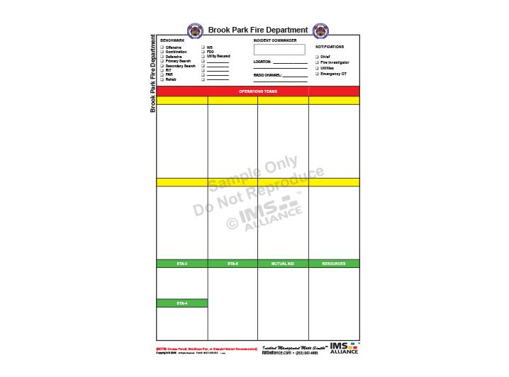 Basic Fire Dept Incident Board 718x532