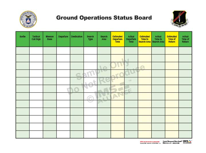 Civil Air Patrol Ground OPS Board 718x532