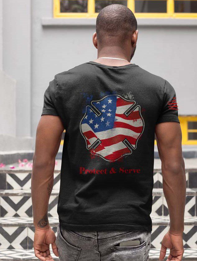 us fireshield men's t-shirt in black