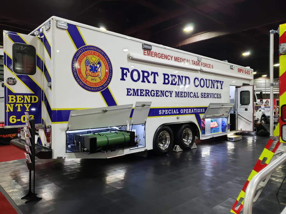 Fort Bend County Emergency Medical Sevices Vehicle